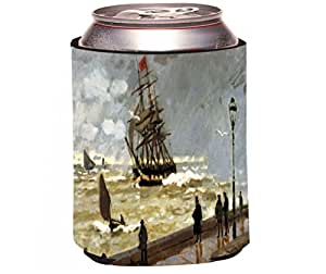 buy rikki knight claude monet art the jetty of le havre in bad weather design beer can soda. Black Bedroom Furniture Sets. Home Design Ideas