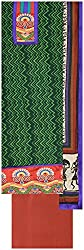 Laxmi Creations Women's Silk Unstitched Dress Material (Green)