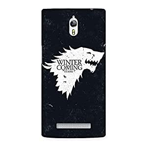 Gorgeous Games Of Winter Grey Back Case Cover for Oppo Find 7