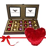 Fascinating Chocolate Collection With Heart Pillow - Chocholik Luxury Chocolates