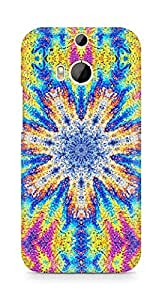 Amez designer printed 3d premium high quality back case cover for HTC One M8 (Flower graphic vivid multi colored)