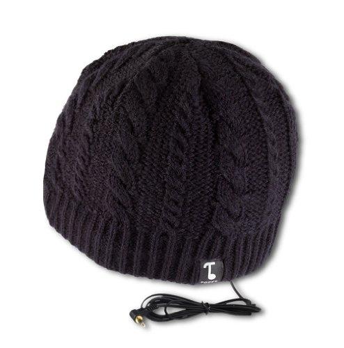 Tooks Ivy Headphone Audio Beanie Hat With Built-In Removable Headphones - Color: Black, Unique Gift Idea