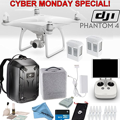 DJI-Phantom-4-Quadcopter-Backpack-Bundle-Includes-2-Phantom-4-Batteries-Soft-Padded-Backpack-16GB-MicroSD-Card-and-more