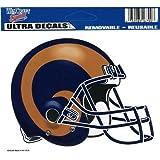 "NFL St. Louis Rams 4.5"" x 6"" Team Helmet Ultra Decal Cling"