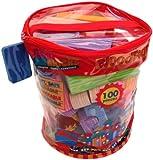 Verdes Toys, Soft & Safe Foam Building Blocks, Set of 100, (77367)