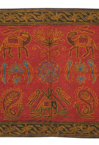 Imagen 1 de Wall Hanging tapiz decorativo indio con tamaño de trabajo elefante bordado 35 x 22 pulgadas
