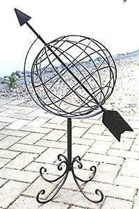 Globus aus metall 101806 sonnenuhr aus schmiedeeisen 72cm for Gartendeko schmiedeeisen