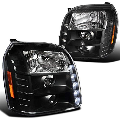 Spec-D Tuning 2LHP-DEN07JM-TM Gmc Yukon Denali XL Black LED drl Projector Head Lights (2007 Yukon Denali Lights compare prices)
