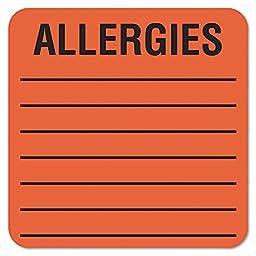 TAB40560 - Tabbies Square Allergies Label