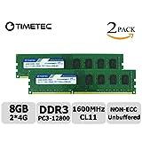 Timetec Hynix IC 8GB Kit (2x4GB) DDR3 1600MHz PC3-12800 Non ECC Unbuffered 1.35V/1.5V CL11 2Rx8 Dual Rank 240 Pin UDIMM Desktop PC Computer Memory Ram Module Upgrade (8GB Kit (2x4GB))