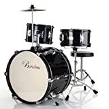 Barcelona DRM-316 Three-Piece 16-Inch Kid's Drum Set – Black Picture