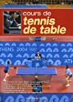 Cours de tennis de table
