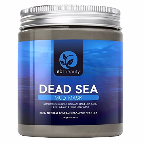 Sol Beauty® Dead Sea Mud Mask - Best Face & Body Mud Mask - Cosmetic Benefits Include: Exfoliation, Detoxification, Acne & Blackhead Treatment