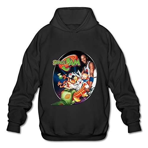 ZEKO Men's Long Sleeve Hoodies Space Jam Size L Black (Space Jams 11 compare prices)