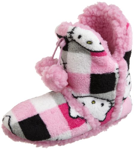 Hello Kitty Women's Short Super Plush Bootie, Print, Large
