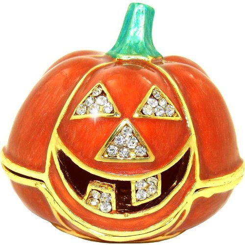 Snaggletooth Halloween Pumpkin Trinket Box