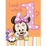 Hallmark Minnie's 1st Birthday Invitations - 8 ct
