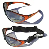 Orange Ladgecom All-Weather Sunglasses & Goggles with Head Strap for Cycling, Running & Ski Sportsby Ladgecom