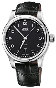 Oris 73375944094LS Watch Classic Date Mens - Black Dial Stainless Steel Case Automatic Movement