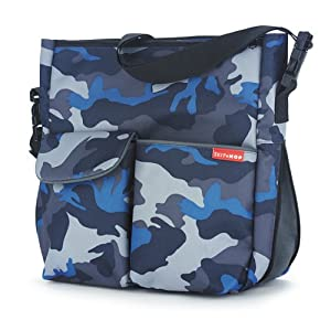 skip hop expo canvas blue camo diaper tote bags baby. Black Bedroom Furniture Sets. Home Design Ideas