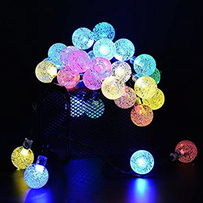 Outdoor Solar String Light garland ,30LED Fairy String Lights Bubble Crystal Ball Lights Decorative Lighting for Indoor, Garden, Home, Patio, Lawn, Party ,Holiday ,Ooutdoor Decor(20FT )