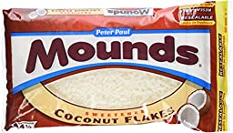MOUNDS Coconut Flakes (Sweetened, 14-Ounce Bags, Pack of 12)