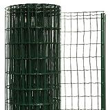 簡単金網フェンス・改良型 1200 ネット+支柱セット 【高さ:1.2m・長さ:20m・防錆処理+PVC加工】