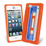 Celicious Orange Retro Cassette Tape Silicone Skin Case for Apple iPhone 5s / iPhone 5 Apple iPhone 5s Case Cover