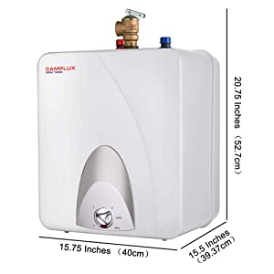 Camplux ME60 Mini Tank Electric Water Heater 6-Gallon,1.44kW at 120 Volts (Color: White, Tamaño: 6 Gallons)
