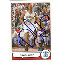 David West Autographed Hand Signed Basketball Card (New Orleans Hornets) 2005 Topps...