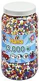 Hama 267 - 2110 Buegelperlen 13.000 Stck., Vollton bunt, in Dose