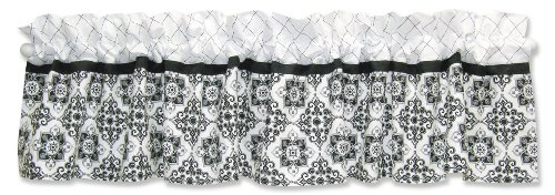 Trend Lab Window Valance, Versailles Black and White