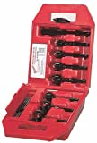 Milwaukee 49-22-0130 Contractor's Kit 7 Bit 1-Inch to 2 9/16-Inch Selfeed Drill Bit Assortment with 5 1/2-Inch Extension and Plastic Carrying Case