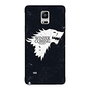 Stylish Comming Of Winter Back Case Cover for Galaxy Note 4