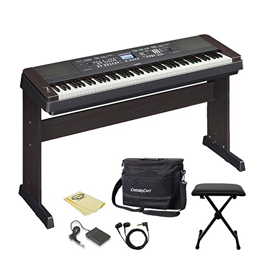 yamaha dgx650b 88 key digital piano with earbuds pedal