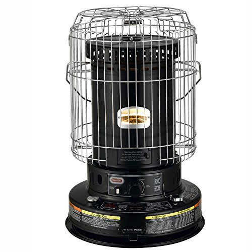 Dyna-Glo RMC-95C6B Indoor Kerosene Convection Heater, 23000 BTU, Black (Portable Kerosene Heater Wicks compare prices)