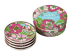 Lilly Pulitzer Ceramic Coaster Set, Big Flirt (153401)