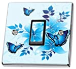 Blue Butterfly Flower Light Switch St...