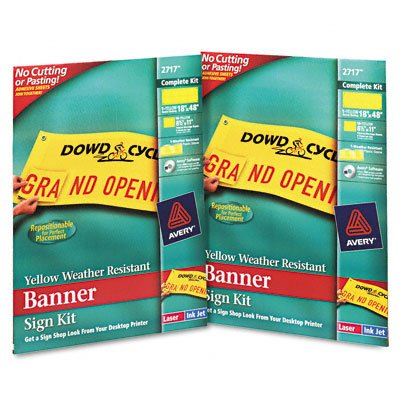 Banner sign kit, 18 x 48, yellow, 2 signs/carton - Buy Banner sign kit, 18 x 48, yellow, 2 signs/carton - Purchase Banner sign kit, 18 x 48, yellow, 2 signs/carton (AVERY-DENNISON, Office Products, Categories, Office & School Supplies, Presentation Supplies, Presentation & Display Boards, Bulletin Boards)