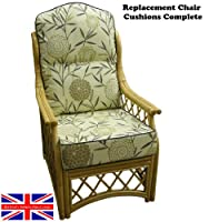 Hump Back CANE CHAIR CUSHIONS Conservatory Wicker Rattan Furniture by GILDA® by Gilda Ltd