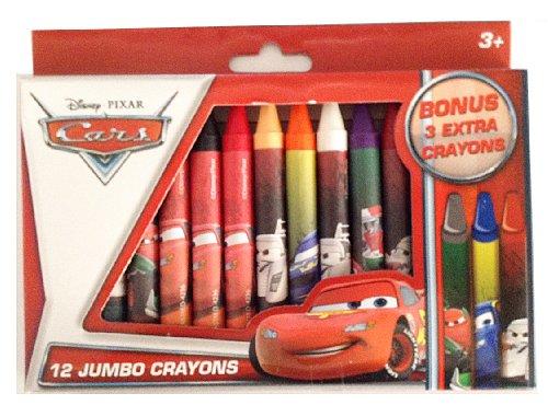 Disney*Pixar Cars 12 Jumbo Crayons (+ 3 Extra Bonus) - 1