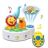 Wishtime 4WAYおやすみプロジェクター ホームシアター 赤ちゃんのおやすみトイ ベビーメリー 泣き止めに効果 知育玩具