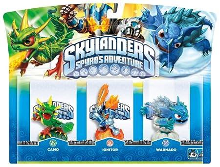 Skylanders Spyro's Adventure: Triple Character Pack - Ignitor, Warnado and Camo (Wii/PS3/Xbox 360/PC)