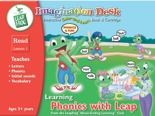 LeapFrog Imagination Desk Interactive Color & Learn Activity Book & Cartridge, Learning Phonics with Leap, Leap Frog, Read - Lesson 1 - Buy LeapFrog Imagination Desk Interactive Color & Learn Activity Book & Cartridge, Learning Phonics with Leap, Leap Frog, Read - Lesson 1 - Purchase LeapFrog Imagination Desk Interactive Color & Learn Activity Book & Cartridge, Learning Phonics with Leap, Leap Frog, Read - Lesson 1 (LeapFrog, Toys & Games,Categories,Electronics for Kids,Learning & Education,Cartridges & Books)