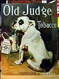 アメリカンブリキ看板 たばこを吸うブルドッグ379