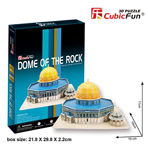 CubicFun 25 Piece 3D Puzzle: Dome of the Rock