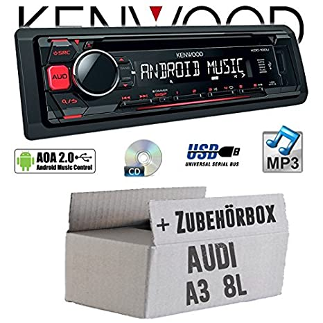 Audi A3 8L - Kenwood-100ur - Commande Autoradio - CD/MP3/USB Android Kit de montage