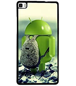 ColourCraft Funny Image Design Back Case Cover for HUAWEI P8