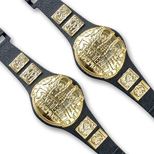 Set of 2 Tag Team Championship Belts for Wrestling Action Figures (Belts For Figures compare prices)