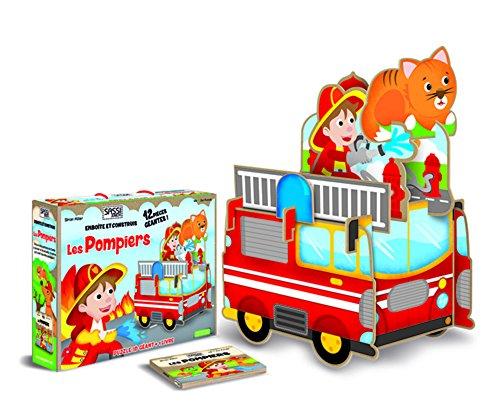Emboîte et construis les pompiers : Puzzle 3D géant + 1 livre